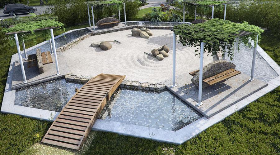 Residencial puntarena - Arena jardin zen ...